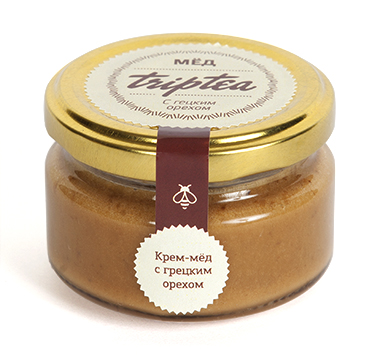 Крем-мед с грецким орехом, 120 гр